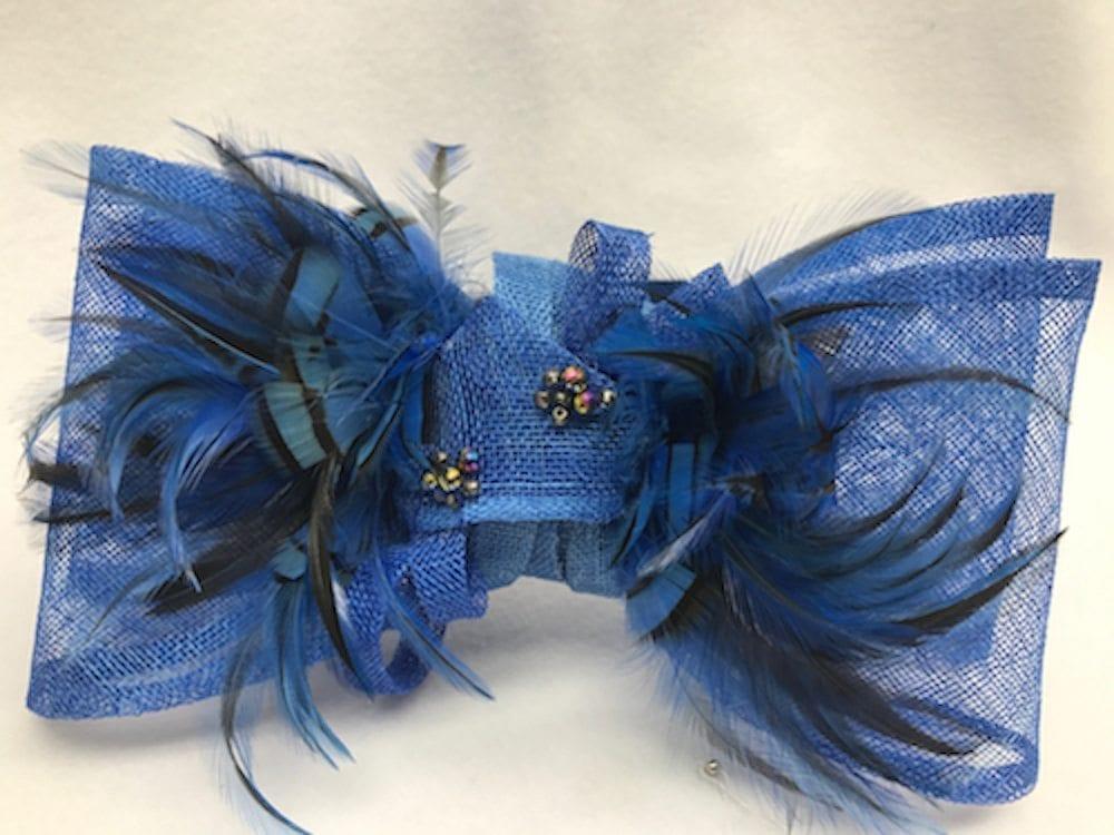Ginny.  78.00. Royal blue fascinator ... aa1d7f45a80