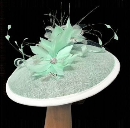 mint green fascinator