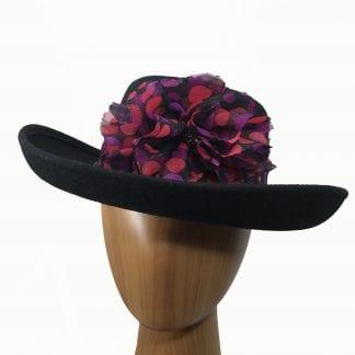 black wool hat red
