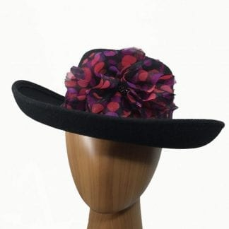 black wool hat red