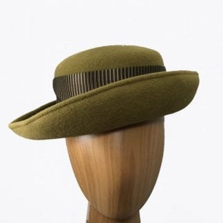 small Olive green wool hat