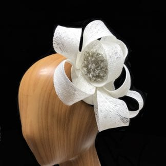 small white whimsical fascinator