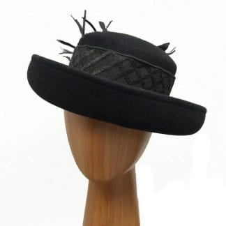 medium black wool hat