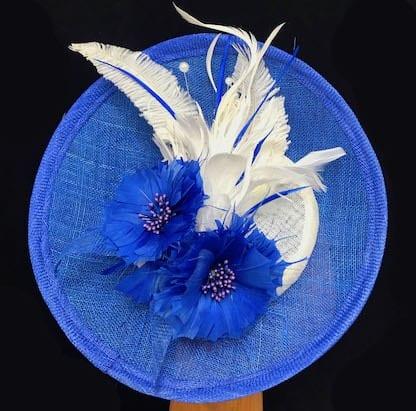 royal blue white fascinatorroyal blue and white fascinator