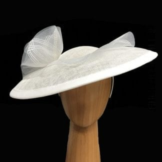 large white saucer fascinator