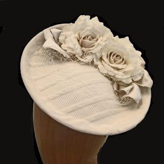 ivory fabric fascinator