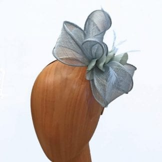 small light blue fascinator