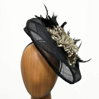 black leopard fascinator