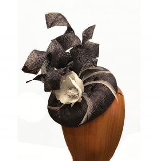 charcoal grey pillbox hat