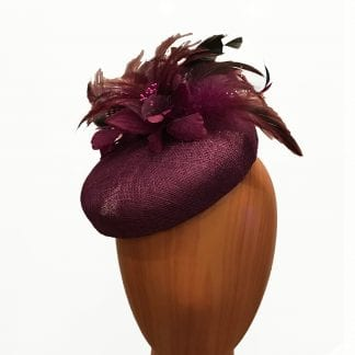 red wine pillbox hat