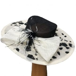 large ivory black hat