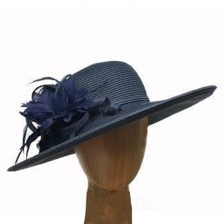 large navy hat