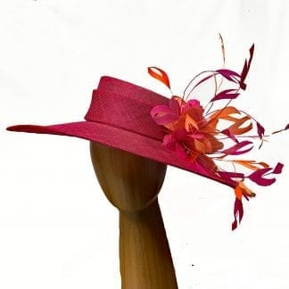 Large rose pink fancy hat