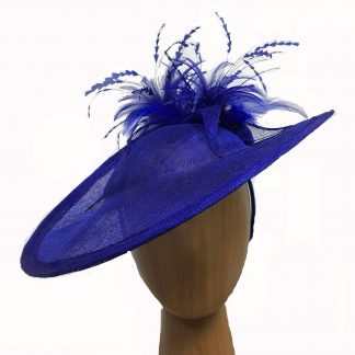 Royal Blue feathered fascinator