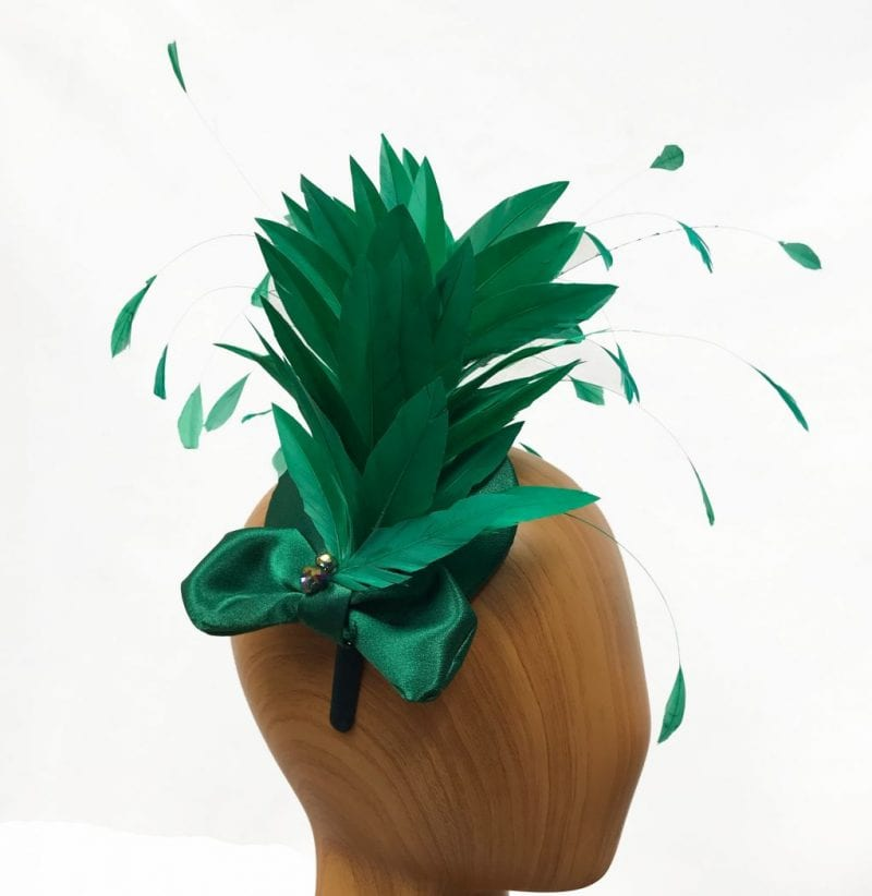 Bright emerald green feathered fascinator. Gayle - Fascinated by Hats e1be124c530