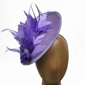 lilac feathered fascinator