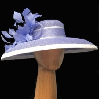 periwinkle white hat