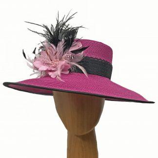 large raspberry black hat
