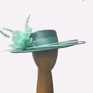 jade color dress hat