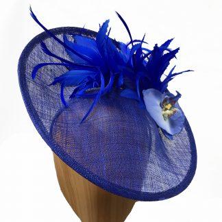 Medium cobalt blue fascinator