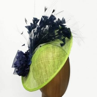 lime navy fascinator