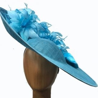 XL light blue fascinator