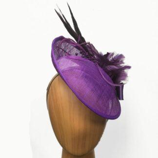 shades of purple fascinator