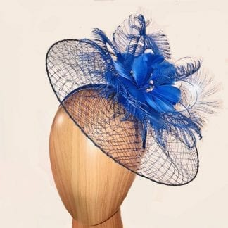 whispy royal blue fascinator