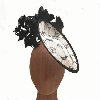 black vory feathered fascinator