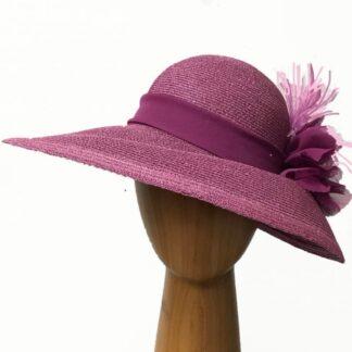 dark pink metallic hat