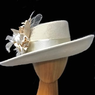 ivory wool dress hat