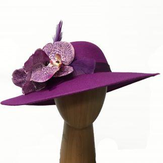 magenta pink wool hat