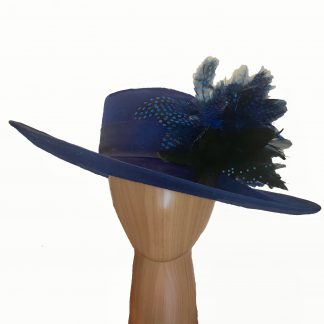 midnight blue wool hat