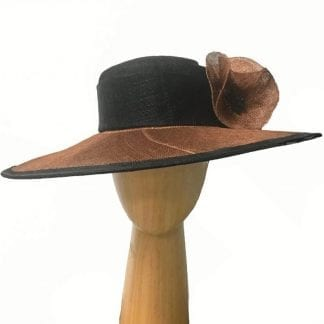copper black dress hat