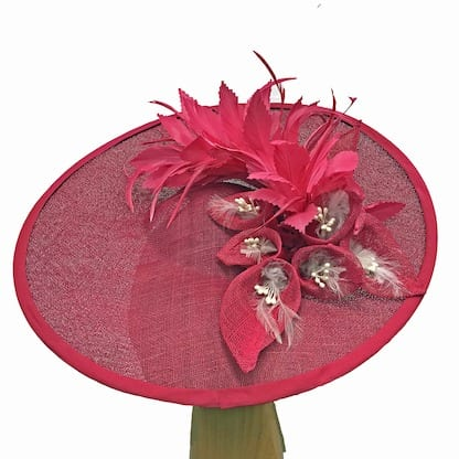 large cherry red fascinator
