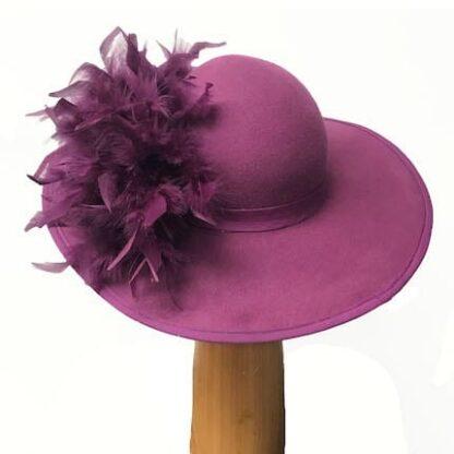 Fuchsia Pink wool hat