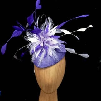 small purple lilac fascinator