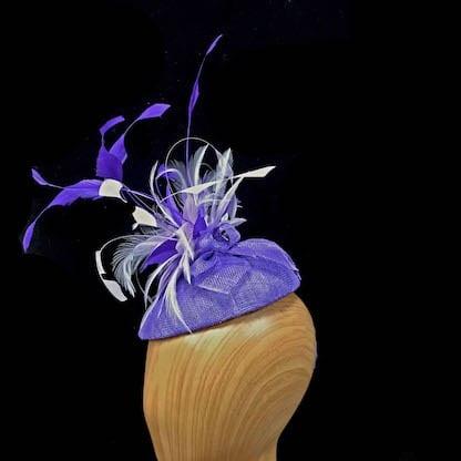 small purple lilac fascinator