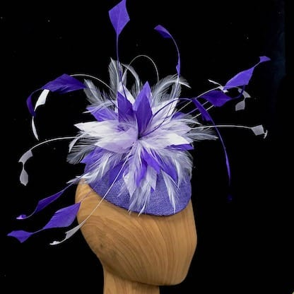 purple lilac fascinator