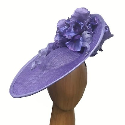 Purple fascinator iris flowers