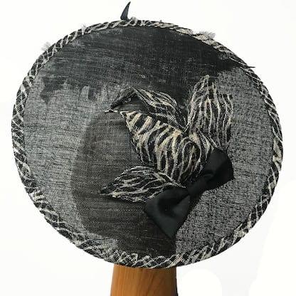 Black with tiger stripe fascinator