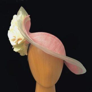pink ivory royal fascinator