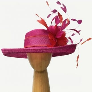 bright pink derby hat