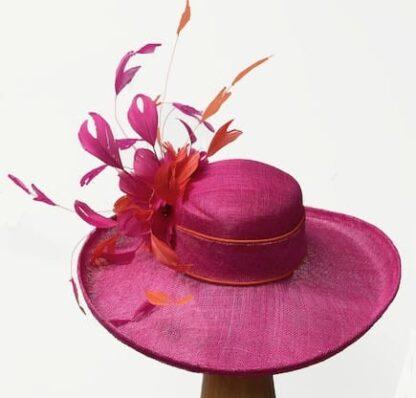 bright pink derby hat