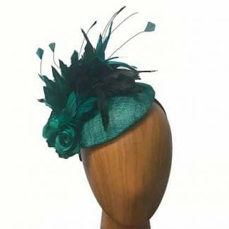 emerald green feathered fascinator