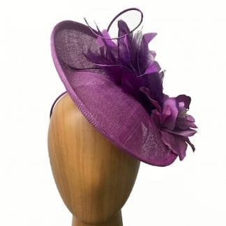 violet purple fascinator