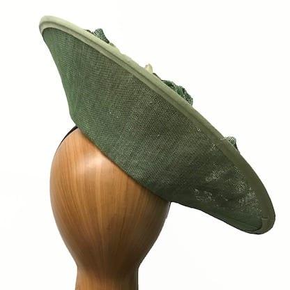 sage green fascinator