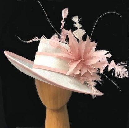 ivory derby pink hat