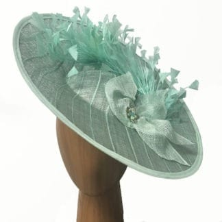 mint green feather fascinator
