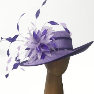 violet purple derby hat
